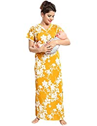 ff5b84e09d TUCUTE Women s All Over Floral Print Feeding Maternity Nursing Nighty Nightwear  with Invisible