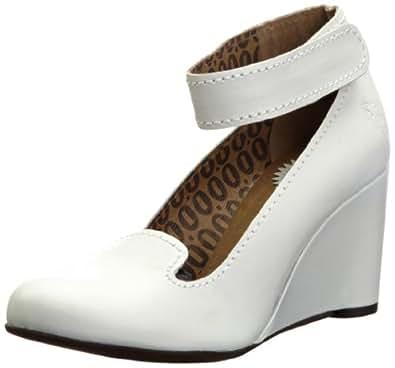 Fly London Women's Gita Off White Ankle Strap Heels P142587005 5 UK