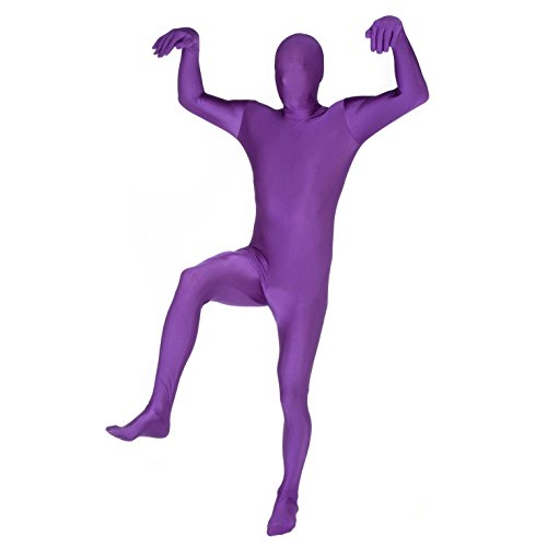B-kreativer Morphsuit Phantasie Kleid Skinsuit Zentai Anzug 11 Fantastische Farben (lila Morphsuit/groß)