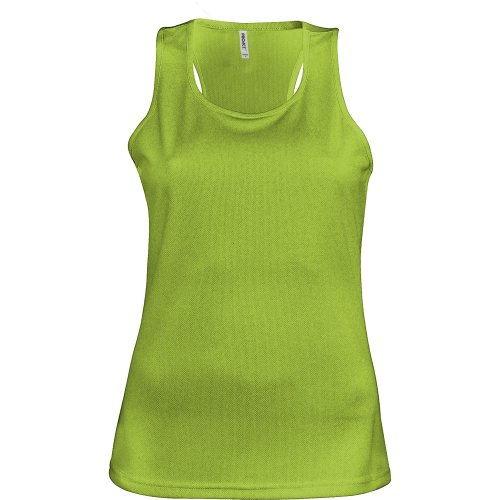 Kariban Proact- Camiseta de deporte de tirantes para chica/mujer (Extra Grande (XL)/Lima)