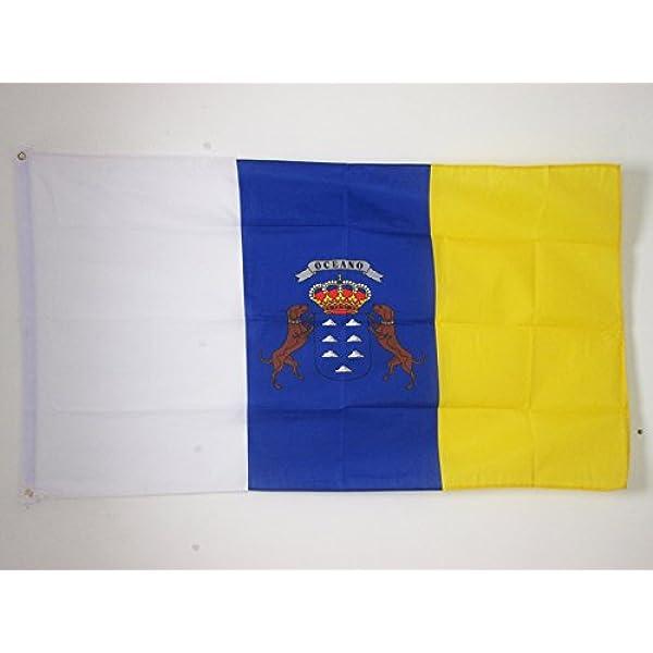 AZ FLAG Bandera de CANARIAS 90x60cm - Bandera Canaria ...