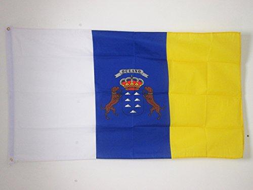 AZ FLAG Flagge KANARISCHE Inseln 90x60cm - KANAREN Fahne 60 x 90 cm - flaggen Top Qualität -