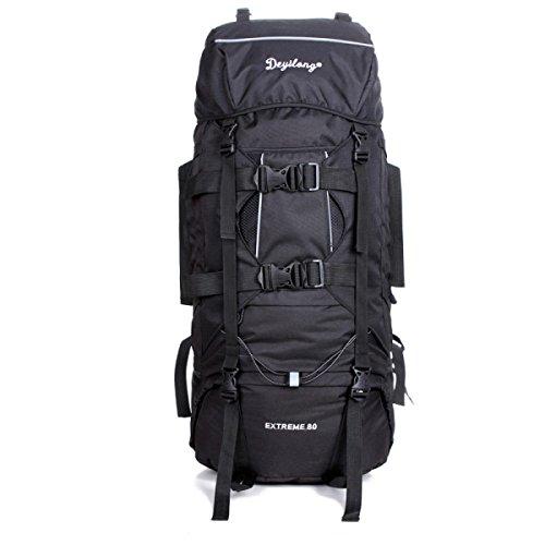 Im Freien Groß Kapazität Reise Rucksack Wasserdicht Oxford Sport Schulter Tasche Black