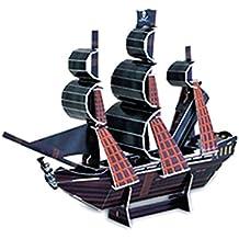 Juguetes Juegos Educativos Rompecapezas Puzzle 3D Mini Serie Perla Negro Barcos Bricolaje