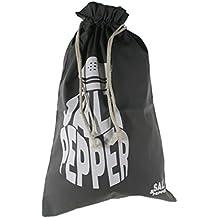 CAL FUSTER - Bolsa para el pan en tela estampada color gris. Medidas: 57x37