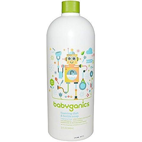 La formación de espuma del plato y del jabón de la botella, Eco Recarga, sin fragancia -