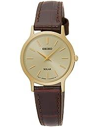 Seiko Damen-Armbanduhr Solar Analog Quarz Leder SUP302P1