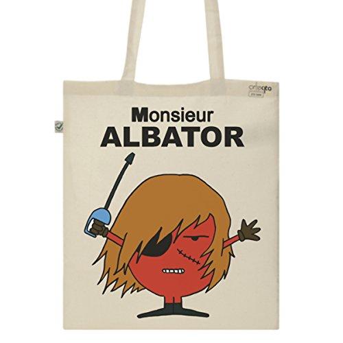 Tote Bag Imprimé Ecru - Toile en coton bio - Monsieur Albator