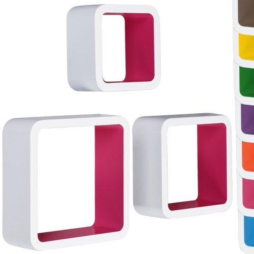 Miadomodo - Set de 3 estanterías de pared de diseño elegir