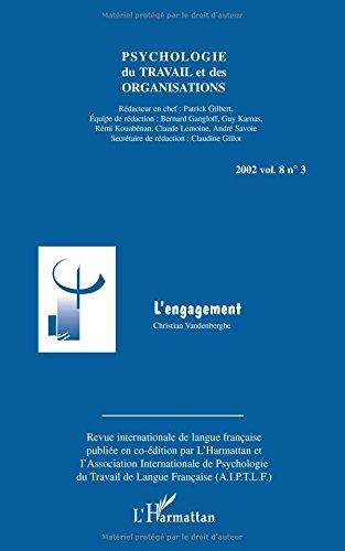Psychologie du travail et des organisations, Volume 8 N° 3/2002 : L'engagement