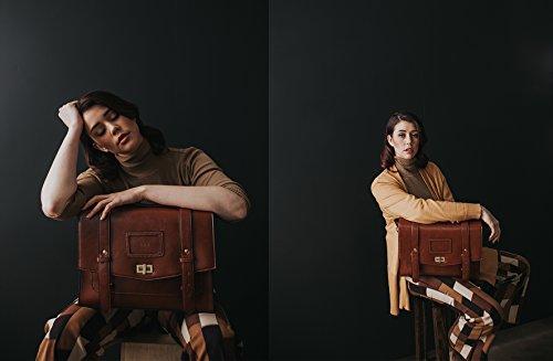 ECOSUSI Borsa Messenger Vintage Donna Borsa a Tracolla per Lavoro Shopping Scuola