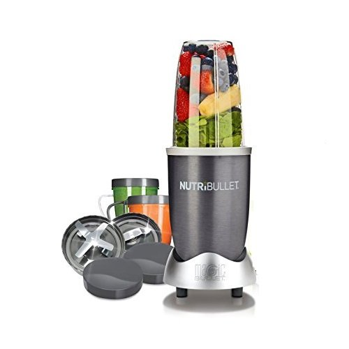 NutriBullet NB12B Extraktor Basis-Set, 12-teilig, 600 W, blau