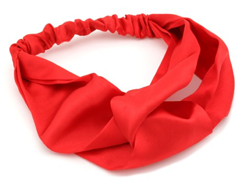 Bright Red Satin Head Band Head Wrap Headband Hair Accessories By Zest by Zest
