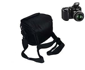 Snug fit Case Bag for Nikon Coolpix L340 L330 L320 L310 L820 L810 L620 L610, CANON POWERSHOT SX420 SX430 IS SX510 HS G1, Nikon 1,Panasonic LZ30 Camera - (Black)