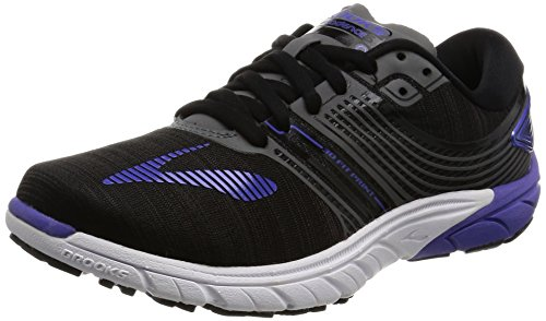 Brooks PureCadence 6, Scarpe da Corsa Donna, Multicolore (Black/Anthracite/Blueiris), 37.5 EU