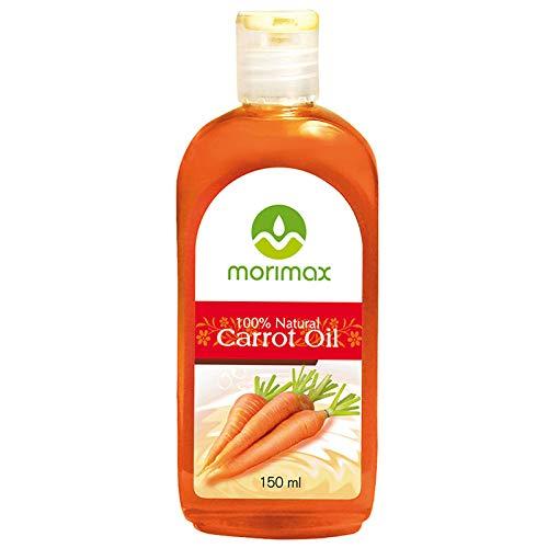 Morimax 100% natürliches kaltgepresstes Karottenöl für Körper, Gesicht und Haar| Natural Carrot...