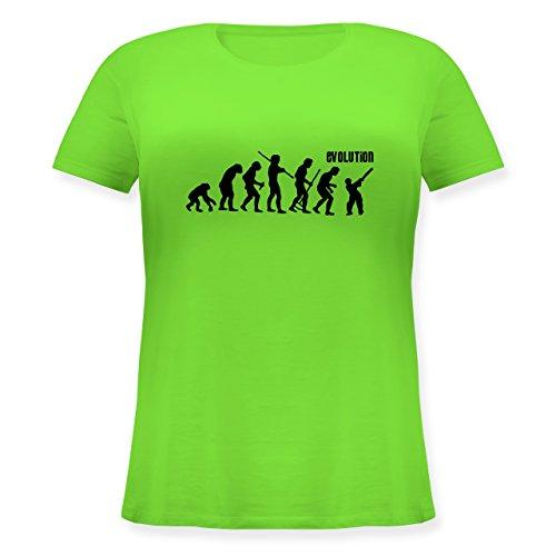Evolution - Cricket Evolution - Lockeres Damen-Shirt in großen Größen mit Rundhalsausschnitt Hellgrün