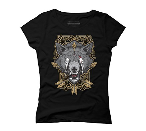 Wolf totem Women's Graphic T-Shirt - Design By Humans Black