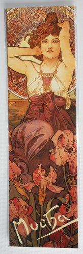 Jugendstil Lesezeichen, Amethyst, Von Alphonse Mucha Gemälde von 1909