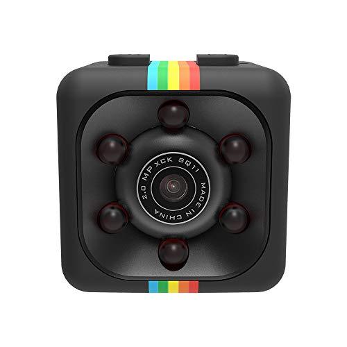 TPulling SQ11 Mini Full HD 690P DV Sportkamera DVR Recorder Kamera 16G TF Karte Mini-DVR-Recorder (Schwarz, Einheitsgröße) Dv-kit