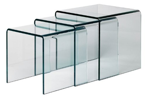 Nesting tables page 5 search furniture premier housewares cascade nested tables with clear bent glass set of 3 41 x 41 x 41 cmparent watchthetrailerfo