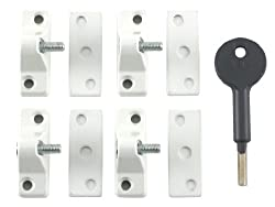 Yale Locks 8K118 Economy Window Lock White Finish Pack 4 Visi Pack