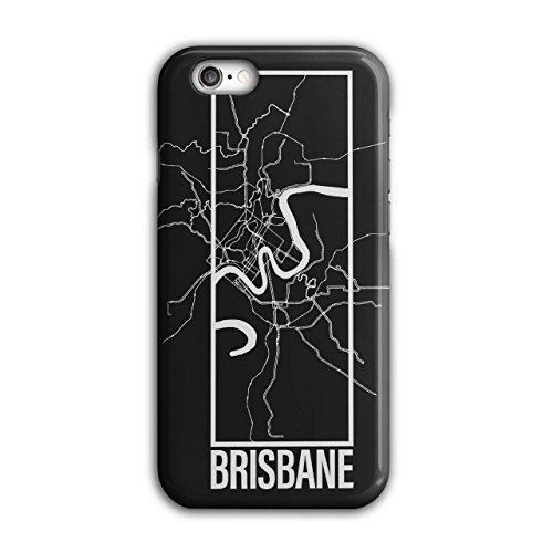 Brisbane Stadt Karte Mode Groß Stadt Karte iPhone 6 / 6S Hülle | Wellcoda