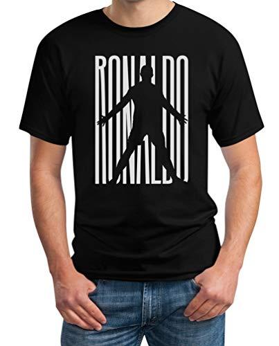 Maglietta per Fans Ronaldo - T-Shirt Juventini Cristiano T-Shirt Maglietta Uomo Medium Nero