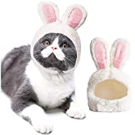Legendog Dog Cat Costume, Cat Funny Outfit Adjustable Size Cat Bunny Costume Puppy Outfit Bunny Ears for Cats-Daily Party Dress up