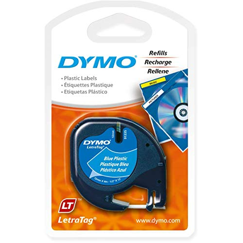 LetraTag Plastic Label Tape Cassette, 1/2in x 13ft, Ultra Blue
