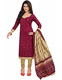 Miraan Women's Cotton Dress Material (Band1616_Multicolor_Free Size)
