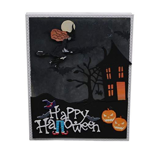 JimTw-UK Happy Halloween Metall DIY Stanzformen Schablone Scrapbooking Prägung Papier Karte