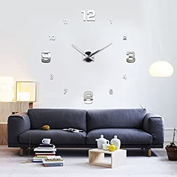 Large Glass Mirror Effect Wall Clock - London Clock