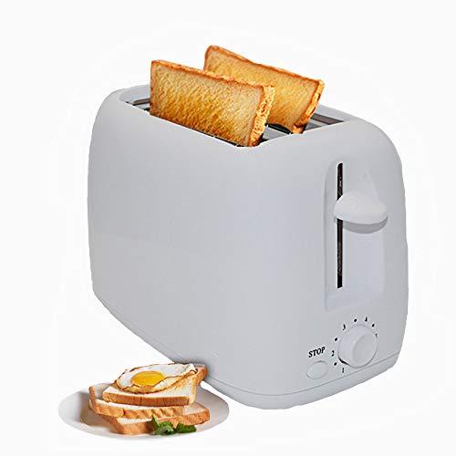 Tostapane Per Toast Farciti Grandi 800w, Tostapane 2 Fette Con 6 Dispositivi Di Riscaldamento, Caratteristiche Come Cottura, Riscaldamento E Scongelamento Del Pane Tostato,White