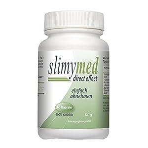 SLIMYMED effektive Diät Kapseln abnehmen schnell & einfach ohne hungern I natürlicher Fatburner ohne Koffein Fettverbrenner Appetitzügler Appetithemmer I 60 Diät Kapseln für Frauen Männer vegan