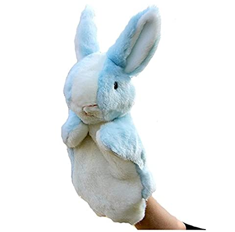 VWH Blau Cartoon Kaninchen Handpuppen weicher Samt Puppen Requisiten