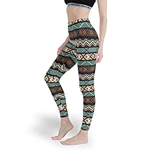 Chanpin Grafik Geometrie Damen Soft Ankle Leggings Hohe Taille Yoga Hosen Spaß Capris Tights für Frauen