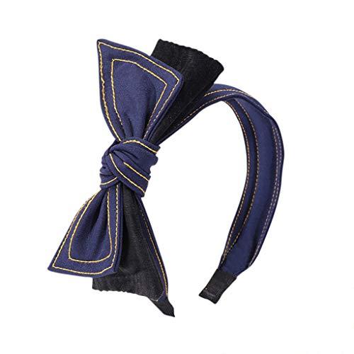 TTWOMEN Mode Doppel Samt Bogen Stirnband Einfache SüßEs MäDchen Haarband (Mädchen Kostüm Samt Hexe Schwarz Kleine)