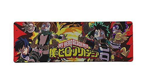 WZRYJDQS Hohe Qualität Mein Held College Anime 900X400M Anti-Rutsch-Anti-Motte Verbessern Präzision Büro Spieltisch Matte A