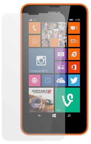 dipos I 2X Schutzfolie matt passend für Nokia Lumia 630 / Lumia 635 Folie Bildschirmschutzfolie