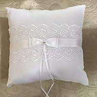 EdBerk74 White Satin Wedding Ring Pillow 20 * 20cm Finger Ring Cushion Romantic Wedding Decorations Jewelry Supplies YMJZ-018
