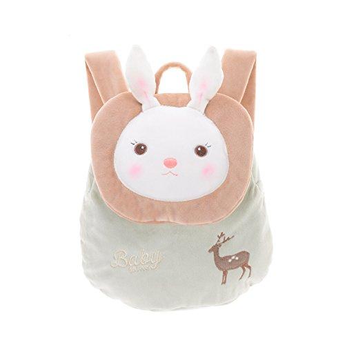 metoo-childrens-backpack-baby-toddler-kids-cartoon-rabbit-plush-bunny-bag-with-deer-pattern