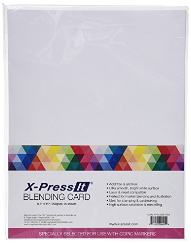 Copic X-Press Zeichenpapier, 21,6x 27,9cm, Weiß, Mehrfarbig, 25 Stück