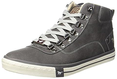 Mustang Herren 4103-601-20 Hohe Sneaker, Grau (Dunkelgrau), 48 EU