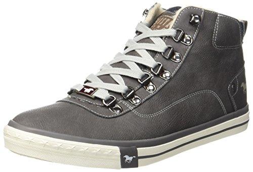 Mustang Herren 4103-601-20 Hohe Sneaker, Grau (dunkelgrau), 43 EU