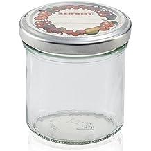 Leifheit Frasco  - Tarro de conserva de vidrio, 8.5x8.5x6.7 cm, color blanco
