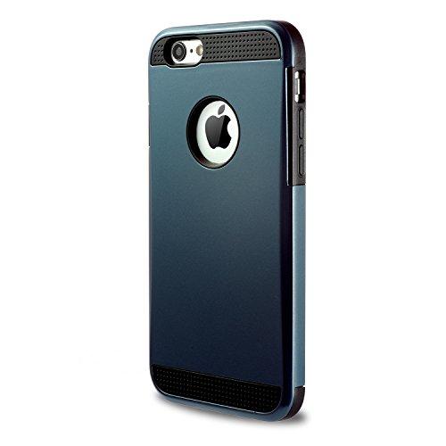 iPhone6 6s Armure cases Tough Armor Coque de Protection à Double Couche Extreme Protecteur pour iPhone6 6S (bleu marine) Bleu Brillant
