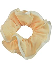 Sarah Light Yellow Soft Fabric Hair Rubber Band For Ponytail Big Rubber Band Hair Accessories