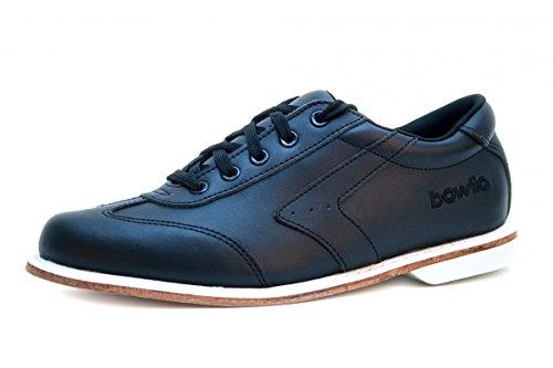 Bowlingschuhe - Bowlio Nero - aus Leder mit Ledersohle, Größe:37, Farbe:Schwarz