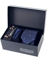 K.GENTMANN Schmale Krawatte Set Seidenkrawatte Jacquard Handgenäht in Verschiedenen Farben Geschenkbox